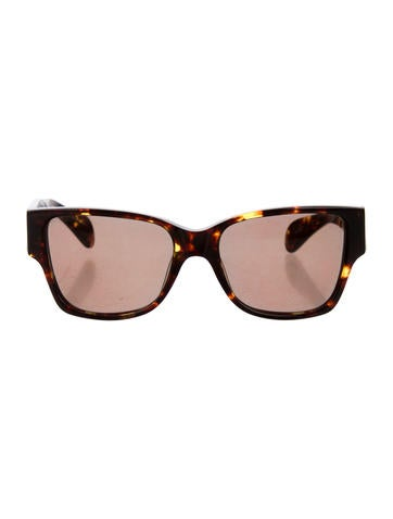 The Row x Linda Farrow Tortoiseshell Wayfarer Sunglasses