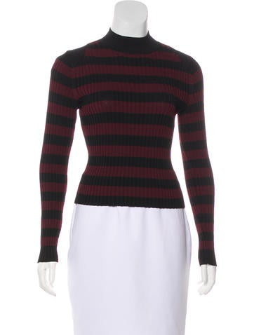 Striped Rib Knit Top None