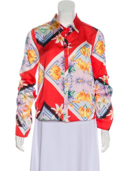 Top Greer Button-Up Top w/ Tags multicolor
