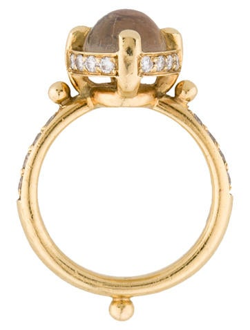 18K Moonstone and Diamond Ring