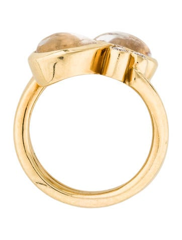 18K Moonstone & Diamond Mummy Ring