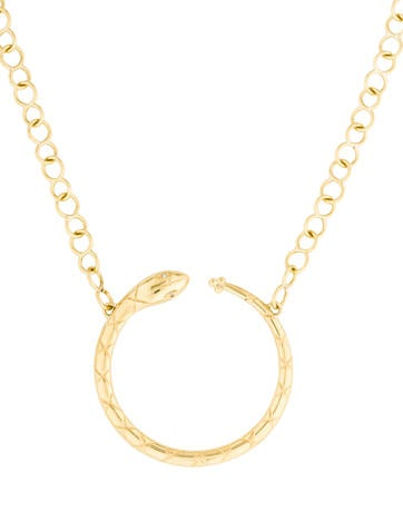 Temple St. Clair 18K Ourobouros Serpent Necklace