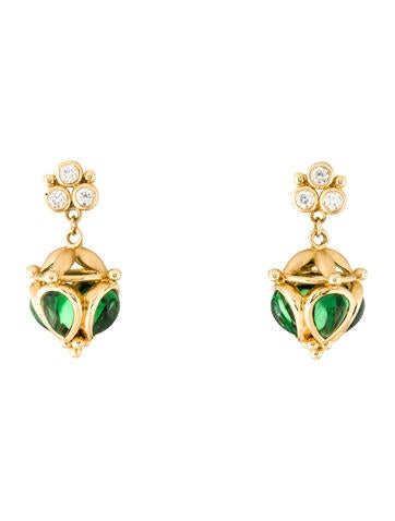 Amrapali 18K Emerald and Diamond Necklace and Drop Earring