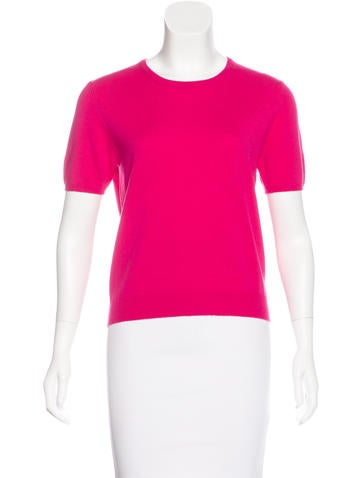 TSE Cashmere Cashmere Short Sleeve Sweater None