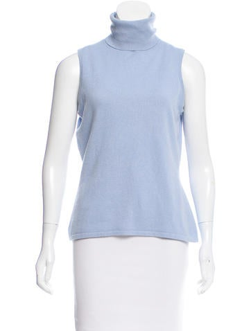 TSE Cashmere Sleeveless Cashmere Top None