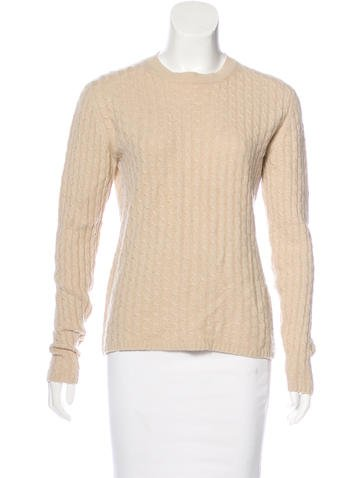 TSE Cashmere Long Sleeve Cable-Knit Sweater None