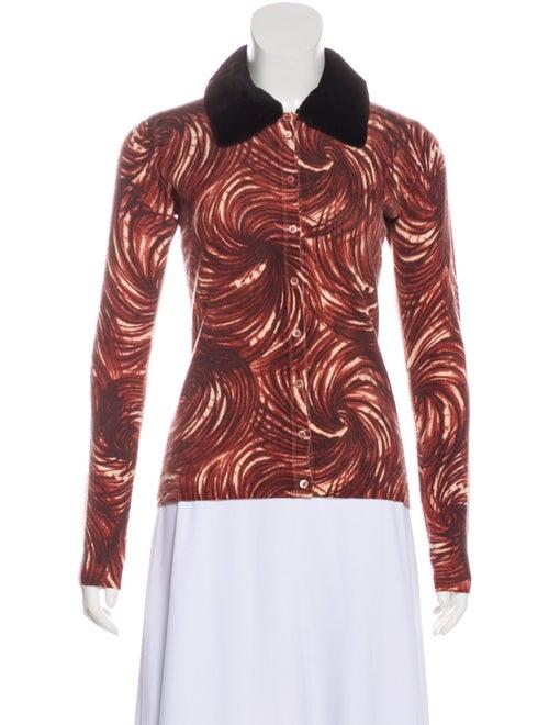 TSE Cashmere Fur-Trimmed Cashmere Cardigan multico