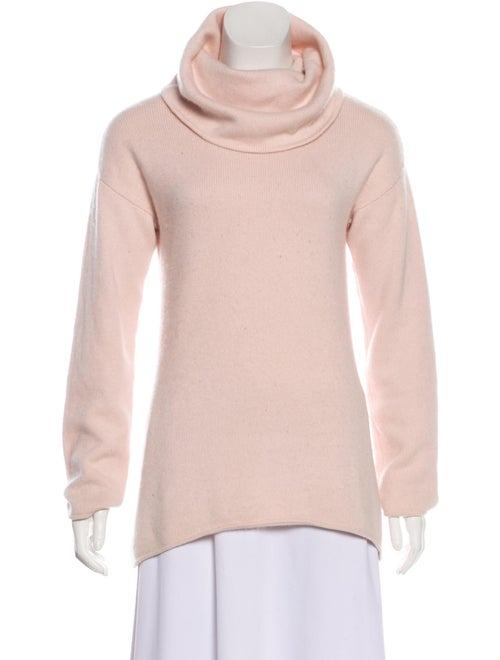 TSE Cashmere Long Sleeve Turtleneck Sweater Pink