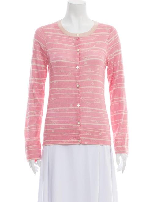 TSE Cashmere Silk Striped Sweater Pink