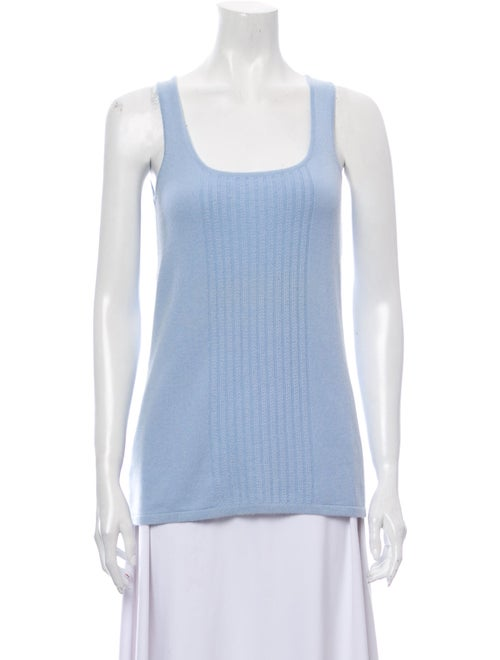 TSE Cashmere Cashmere Scoop Neck Sweater Blue