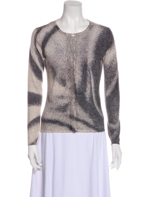 TSE Cashmere Cashmere Printed Sweater Grey