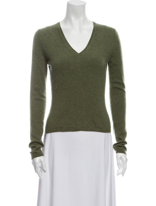 TSE Cashmere Cashmere V-Neck Sweater Green