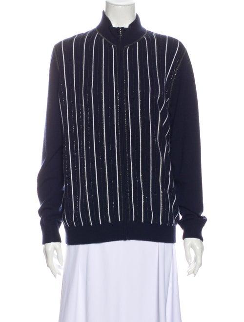 TSE Cashmere Cashmere Striped Sweater Blue