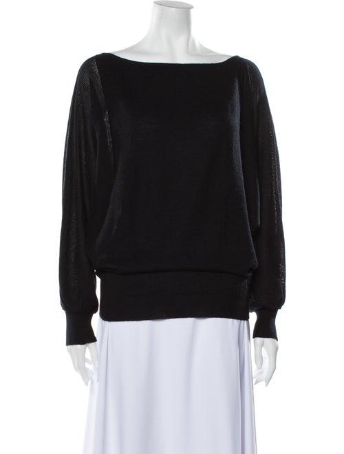 TSE Cashmere Cashmere Bateau Neckline Sweater Blac