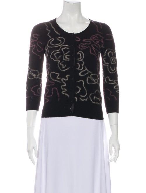 TSE Cashmere Cashmere Printed Sweater Black