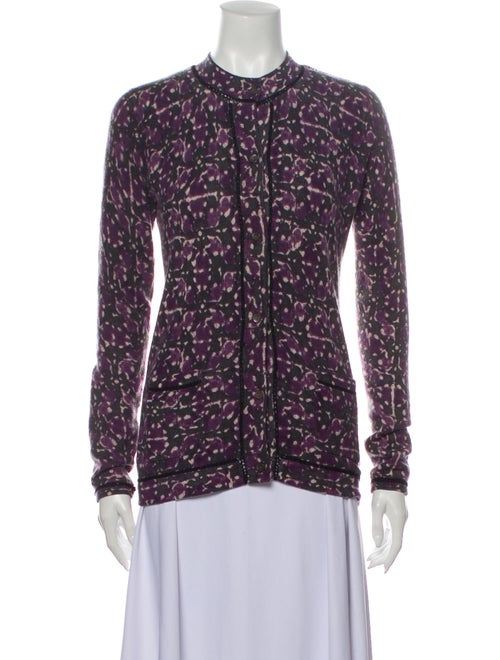 TSE Cashmere Cashmere Tie-Dye Print Sweater Purple - image 1