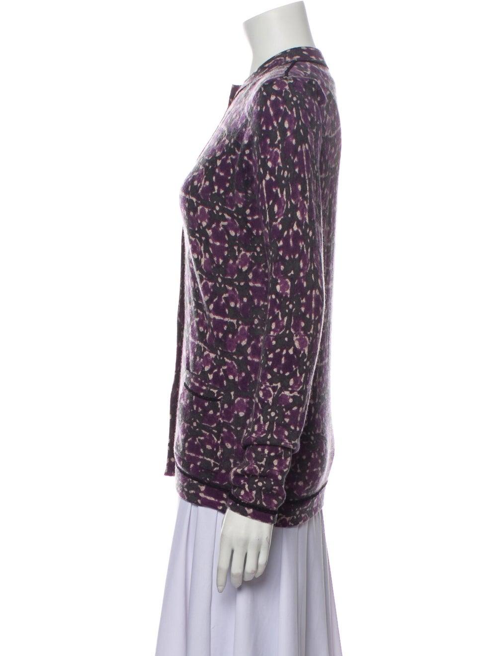 TSE Cashmere Cashmere Tie-Dye Print Sweater Purple - image 2