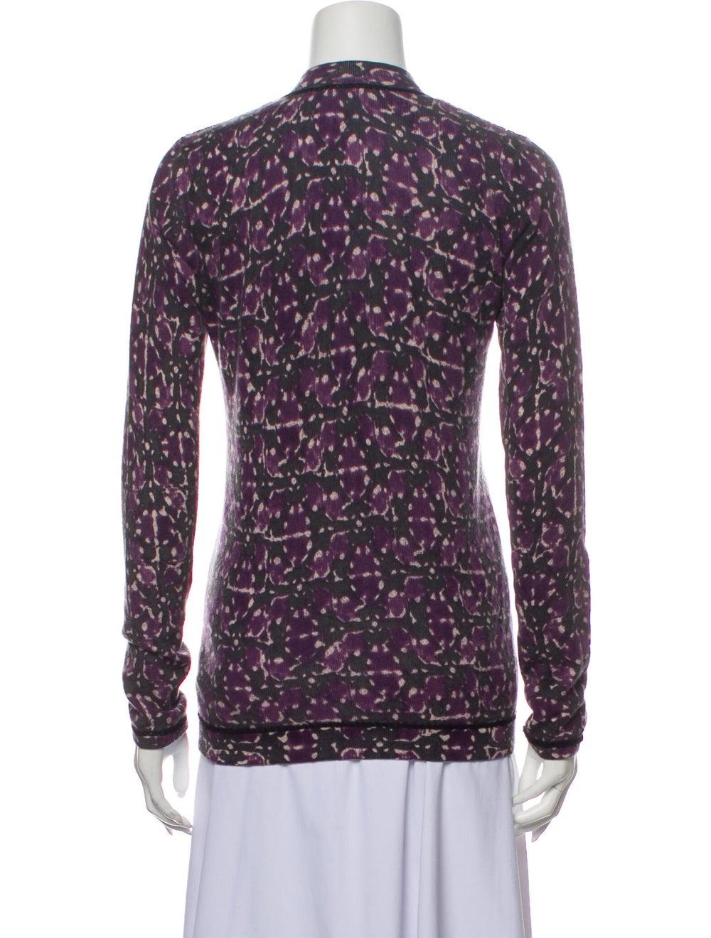 TSE Cashmere Cashmere Tie-Dye Print Sweater Purple - image 3