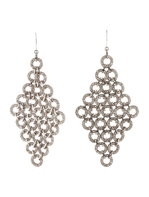Tateossian Chandelier Earrings silver