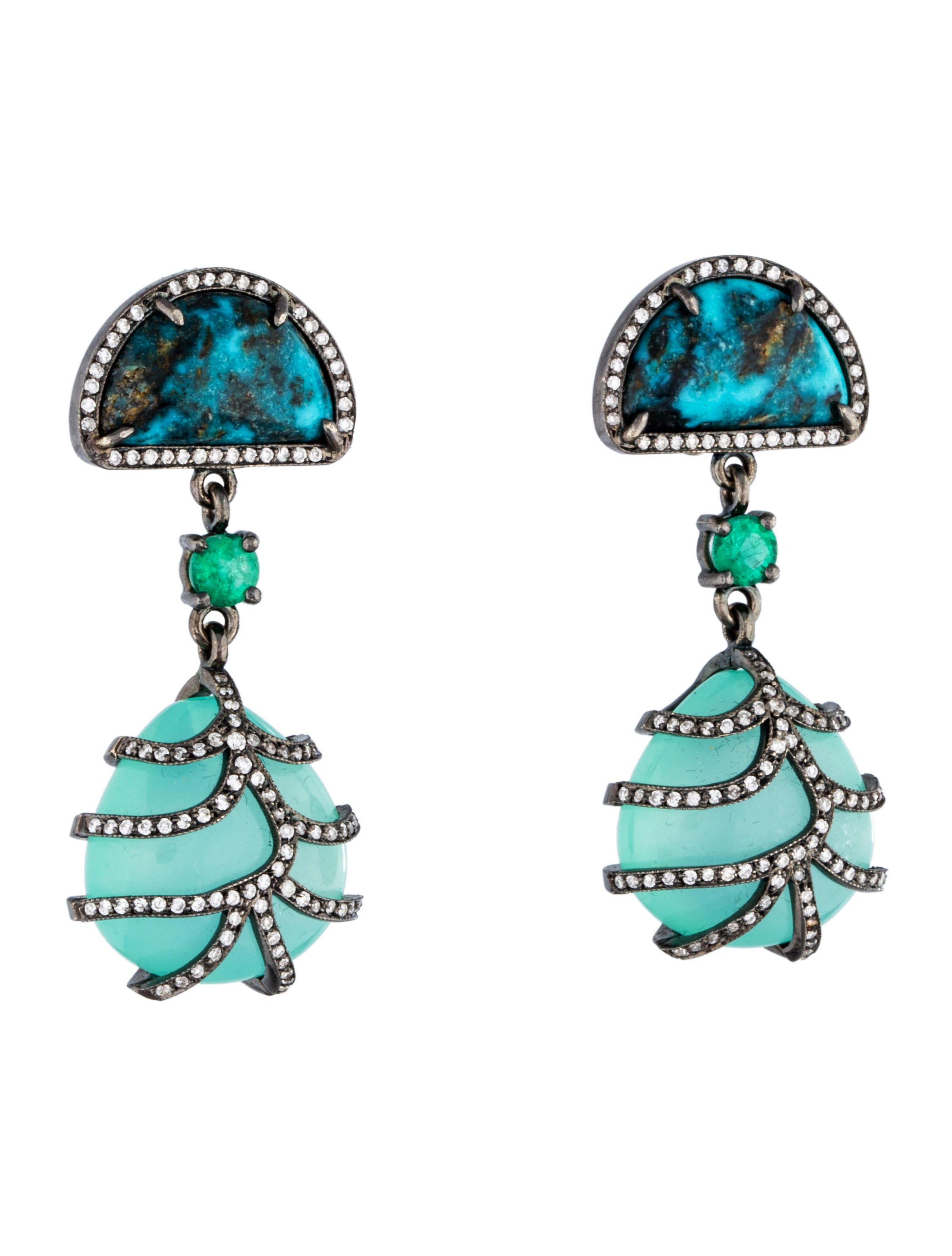 colette jewelry blue zircon and turquoise earrings. Black Bedroom Furniture Sets. Home Design Ideas
