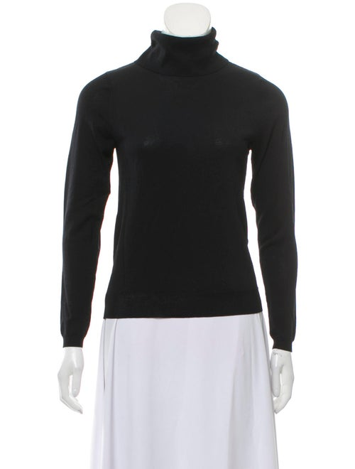 Totême Knit Turtleneck Top Black