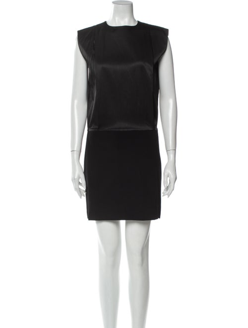Totême Crew Neck Mini Dress Black