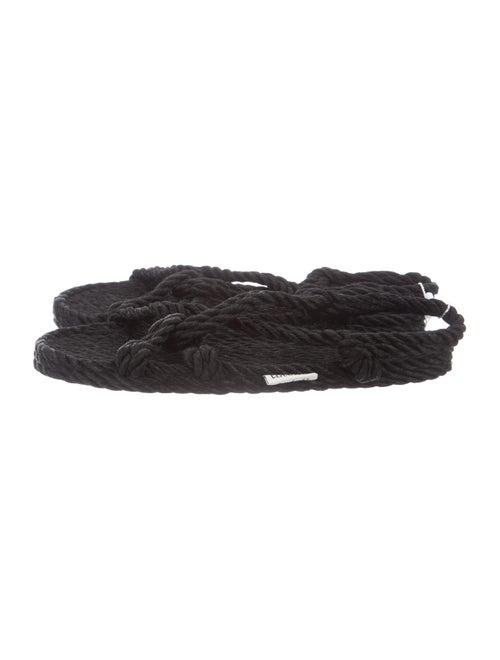 Totême Jute Sandals Black