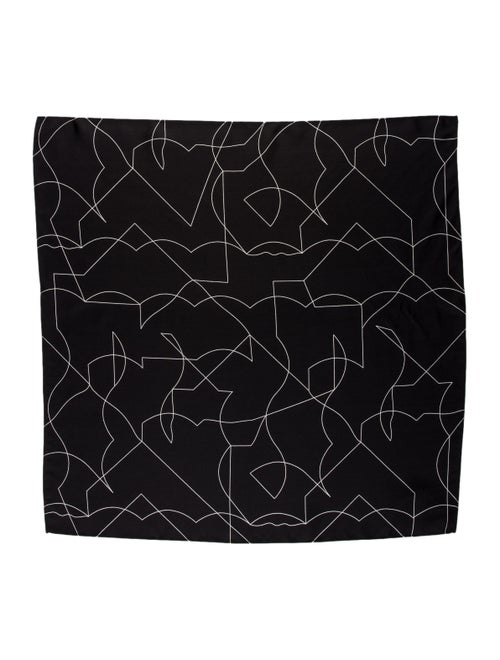 Totême Silk Printed Scarf Black