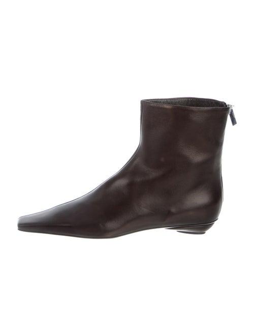 Totême Leather Boots Black