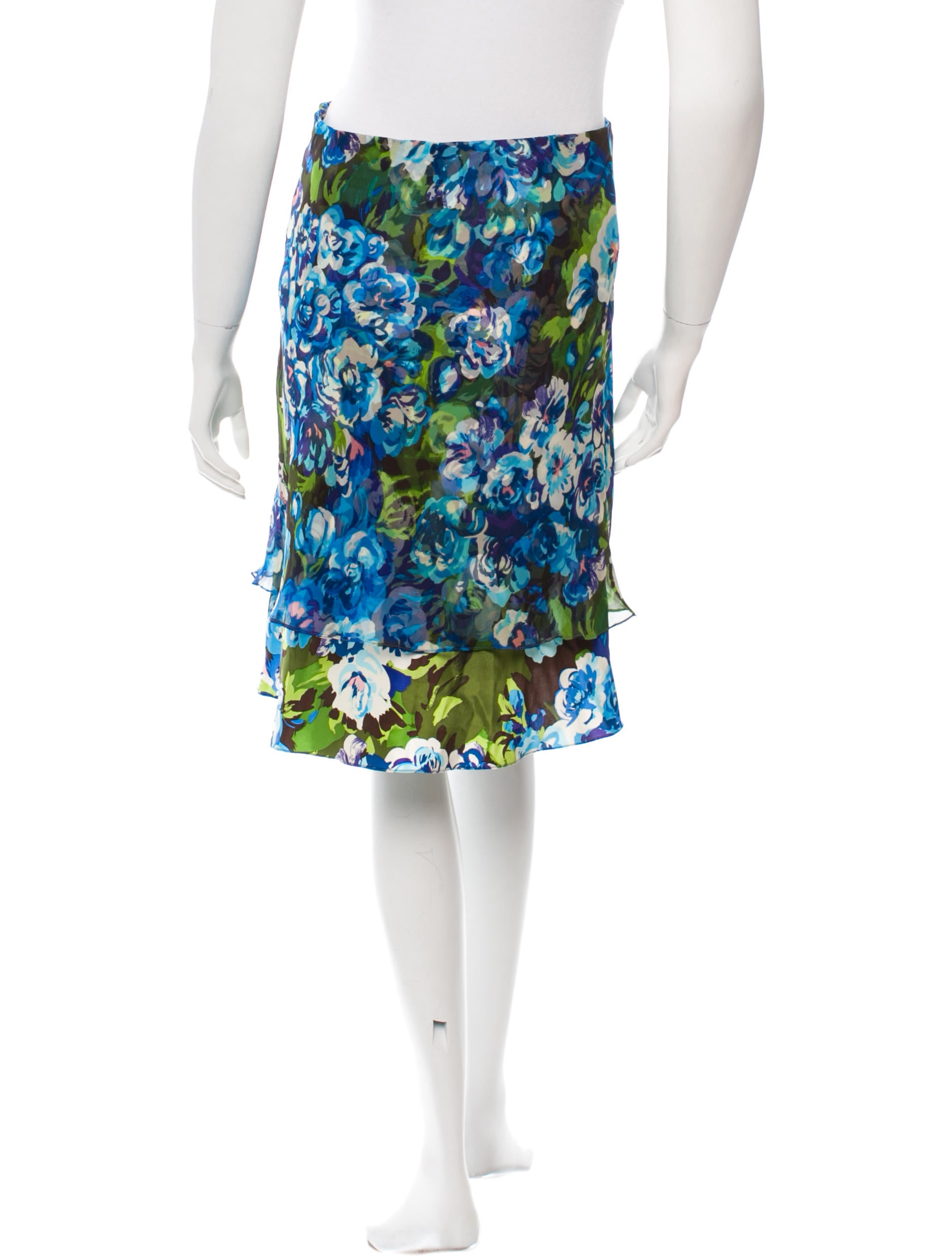 tuleh floral a line skirt clothing tul21032 the realreal