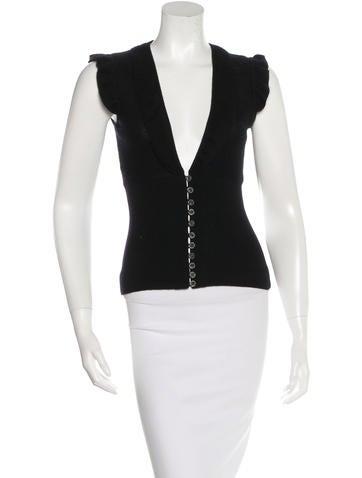 Tuleh Cashmere Silk-Blend Knit Top None