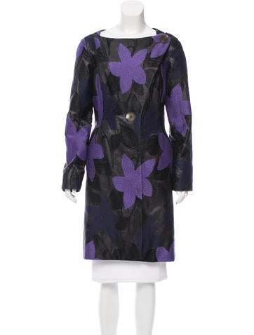 Tuleh Patterned Knee-Length Coat None
