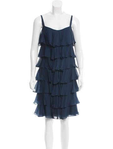 Tuleh Silk Tiered Dress