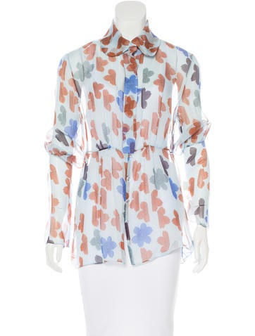Tuleh Silk Button-Up Top w/ Tags None