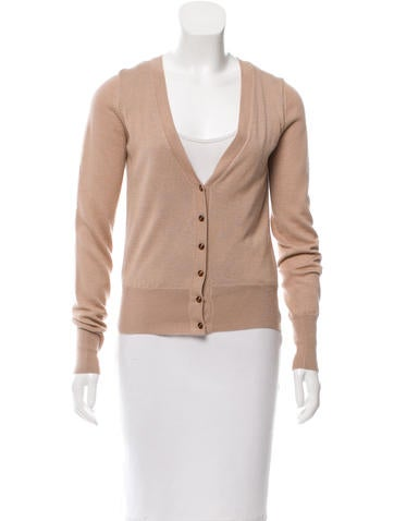 Tuleh Cashmere Button-Up Cardigan None
