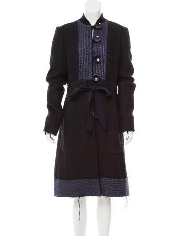 Tuleh Tweed Longline Jacket None