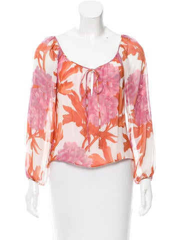 Tuleh Floral Long-Sleeve Top None