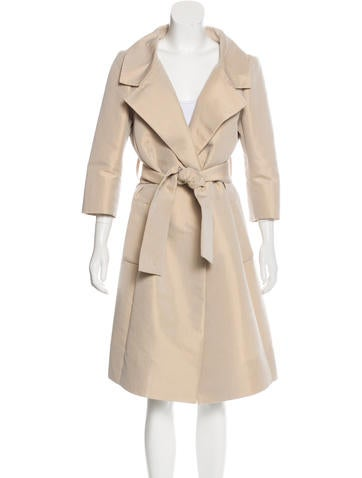 Tuleh Notched Lapel Belted Coat None