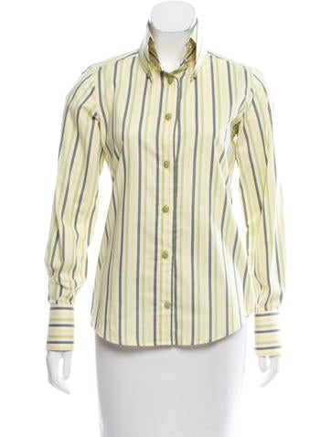 Tuleh Striped Button-Up Top None