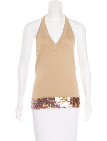 Tuleh Cashmere & Silk Embellished Top None