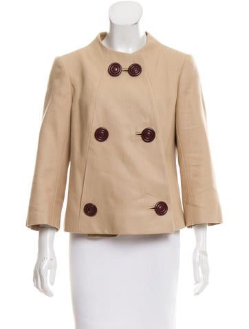 Tuleh Double-Breasted Knit Jacket None