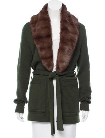 Tuleh Cashmere Fur-Trimmed Cardigan None
