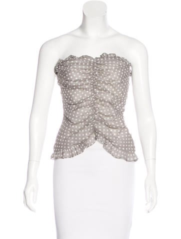 Tuleh Strapless Crop Top w/ Tags None