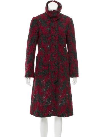 Tuleh Open Knit Floral Coat None