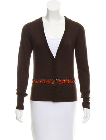 Tuleh Embellished Knit Cardigan None
