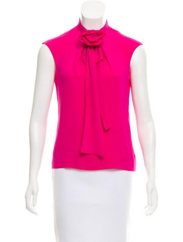 Tuleh Tie-Accented Sleeveless Top None