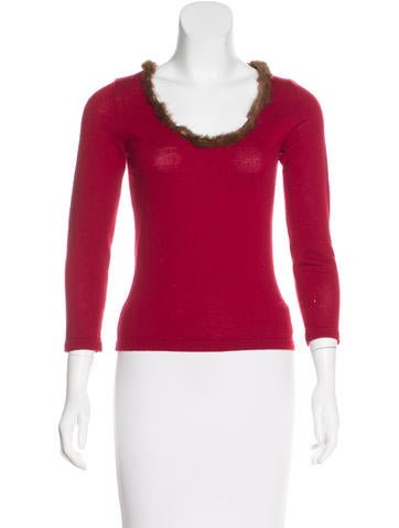 Tuleh Fur-Trimmed Knit Sweater None