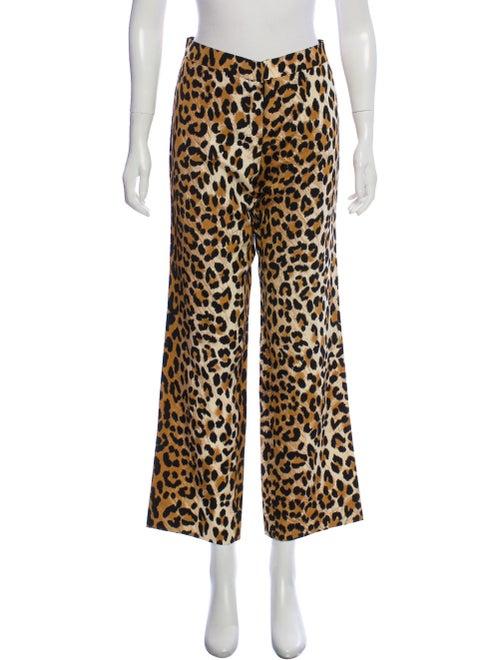Tuleh Wide-Leg Animal Print Pants Brown - image 1