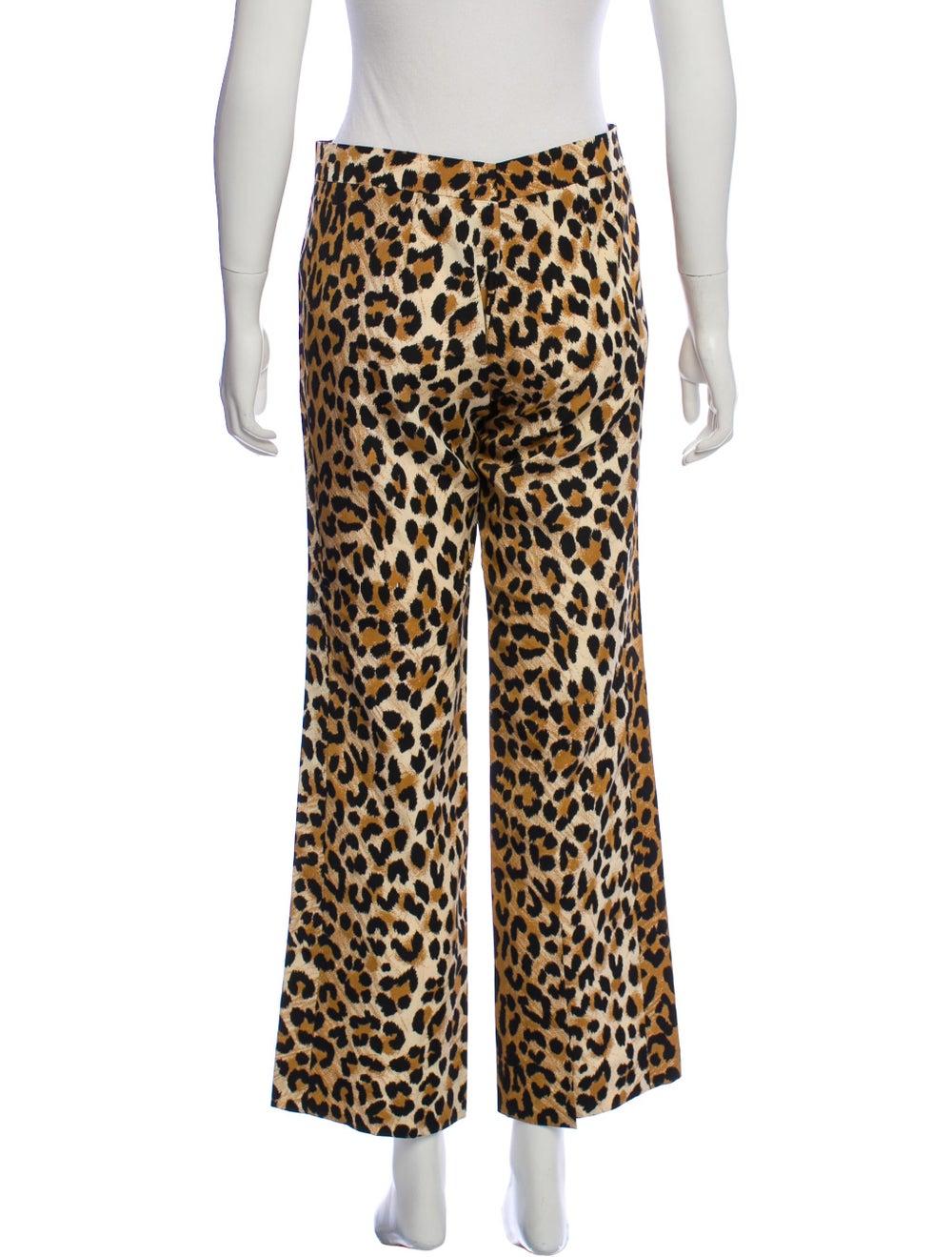 Tuleh Wide-Leg Animal Print Pants Brown - image 3