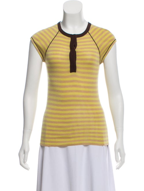 Tuleh Cashmere Striped Top Chartreuse